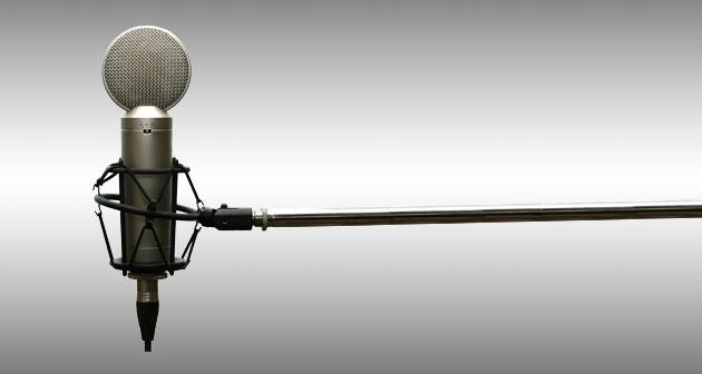 Microfoon voor voice-over opname.