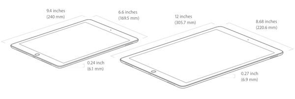 De afmetingen van de iPad Pro | everlearn
