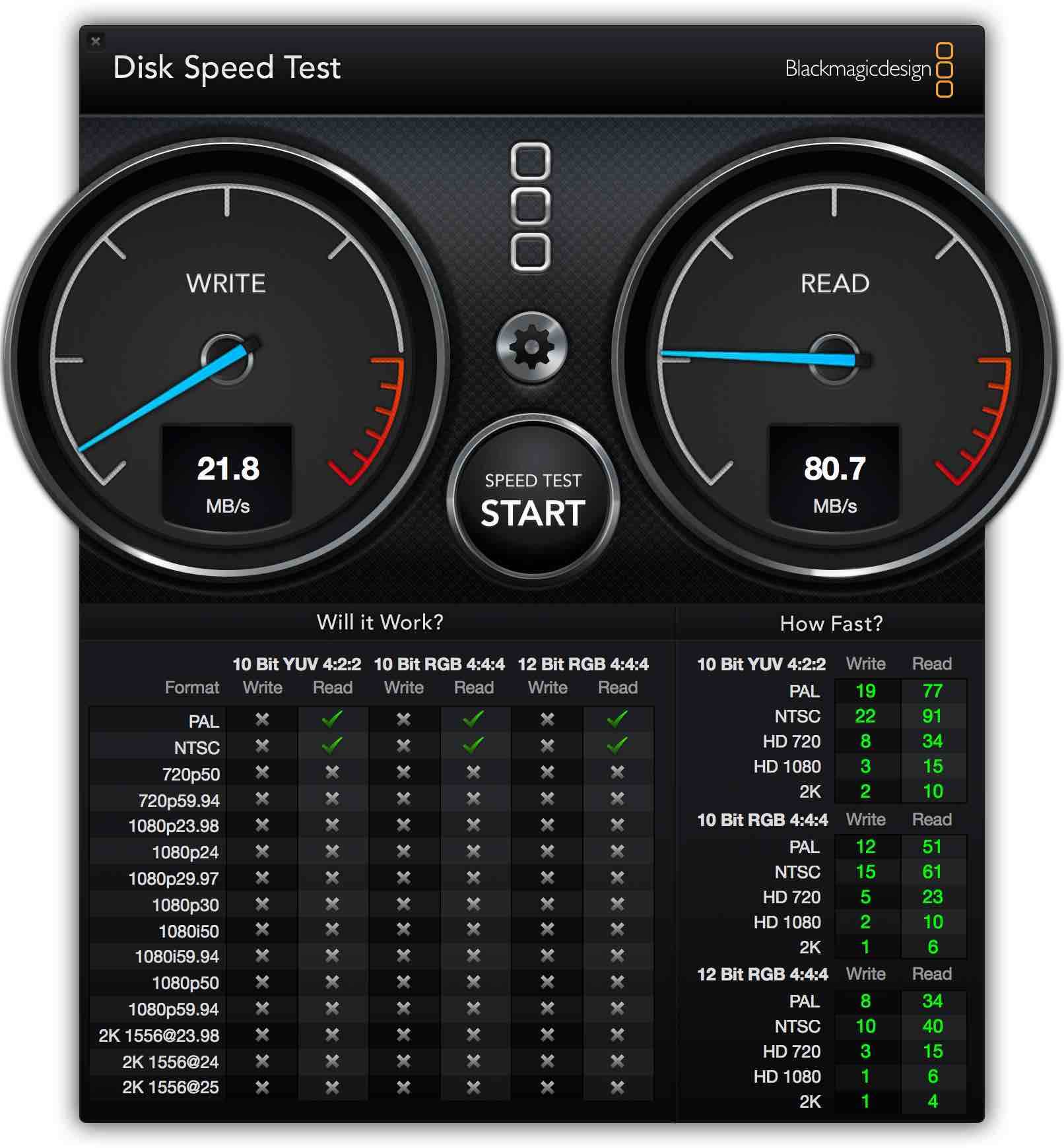 Blackmagic Speedtest