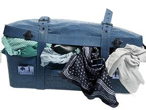 volgepropte koffer