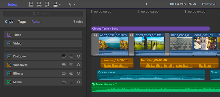 Roles in Final Cut Pro X | everlearn
