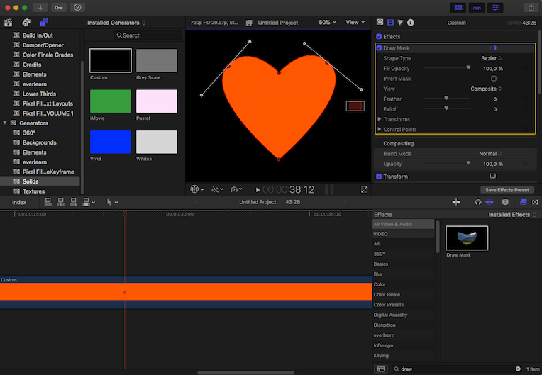 6 Functies die ik mis in Final Cut Pro X | Pen tool voor shapes | everlearn