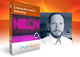 Belichting in Cinema 4D online cursus module 3 van everlearn