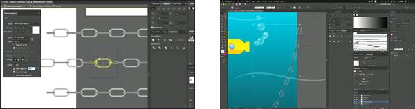Met penselen kun je snel mooie dingen tekenen in Adobe Illustrator