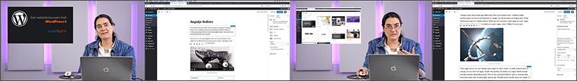 Beelden uit de online cursus Een website maken met WordPress van everlearn