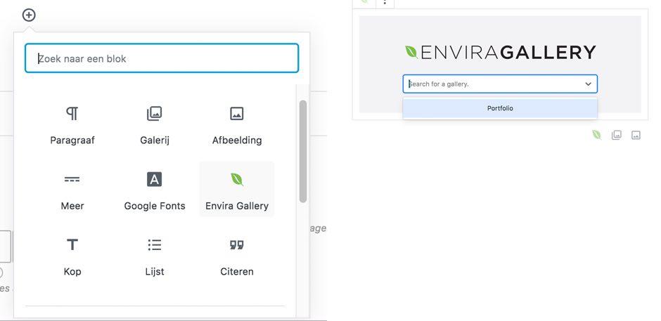 voorbeeld envira Gallery