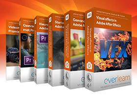 Ultieme Adobe pro video cursusbundel met 6 online cursussen over Adobe Premiere Pro en adobe After Effects